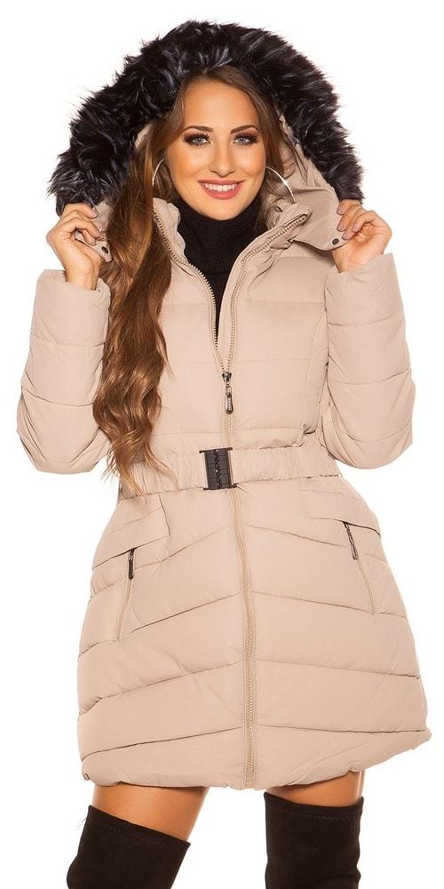 1018f105cc Dámska zimná bunda s kapucňou - Koucla - Bundy dámske zimné ...