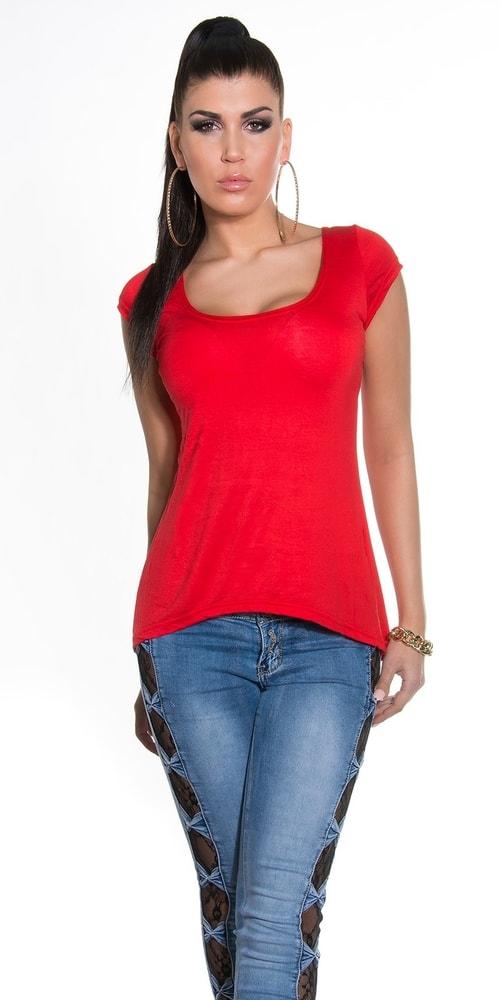 b05877672ef3 Dámske červené tričko s mašľou - Koucla - Dámske tričká - vasa-moda ...