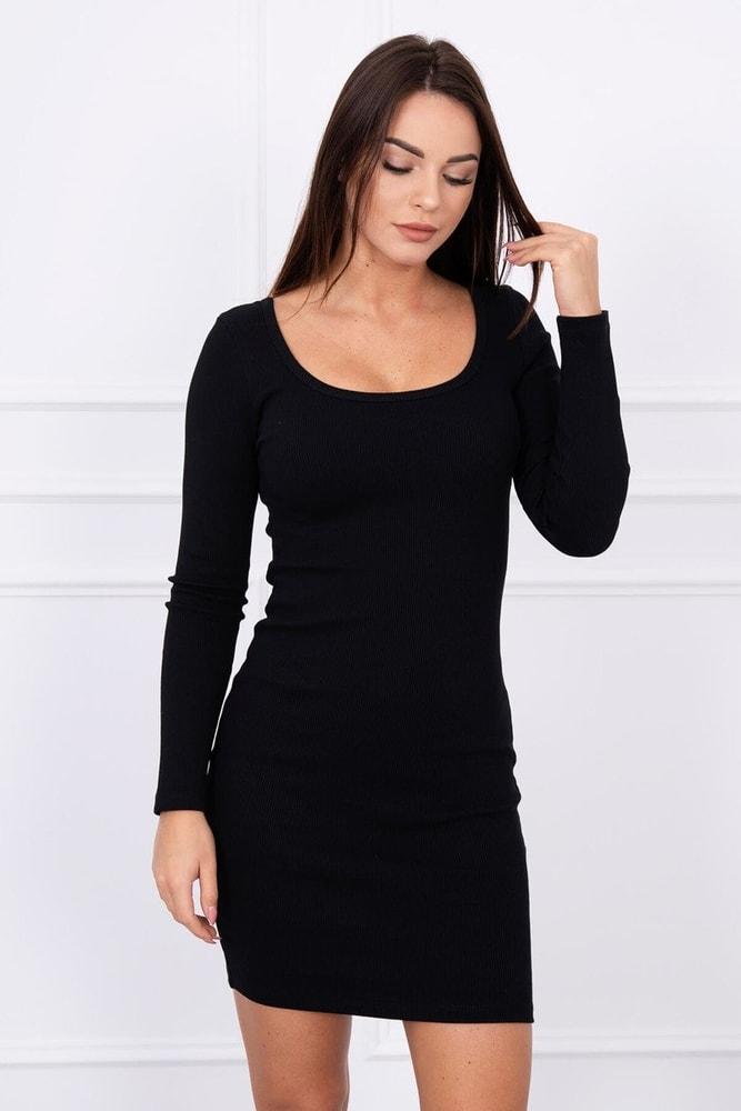 c11555fee1 Čierne dámske minišaty - Kesi - Úpletové šaty - vasa-moda.sk