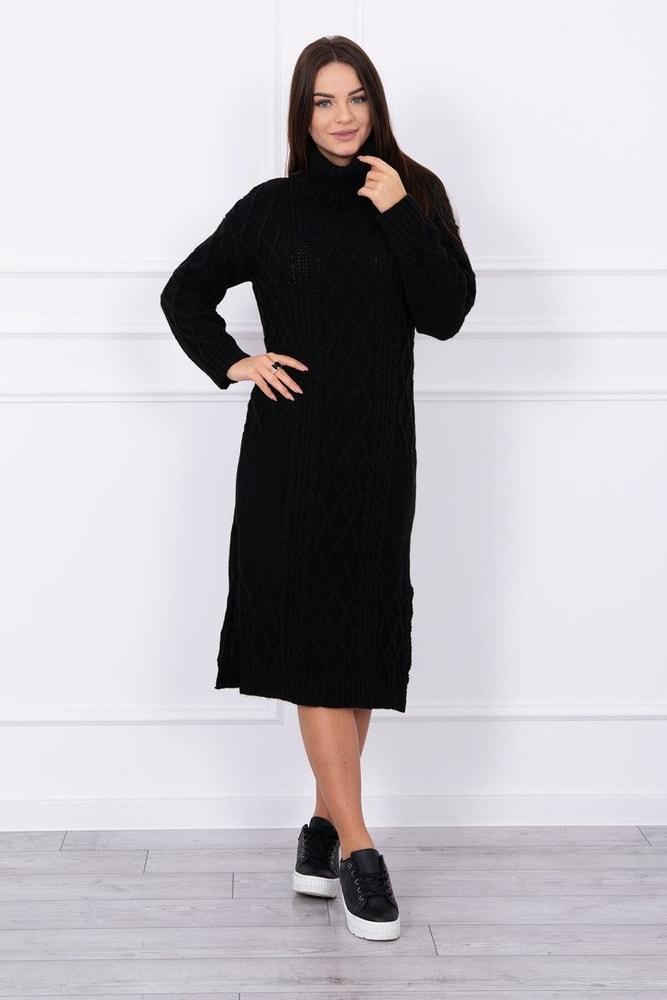cc5998f6c06e Domů ›  Dámské šaty ›  Úpletové šaty ›  Černé pletené šaty s rolákem