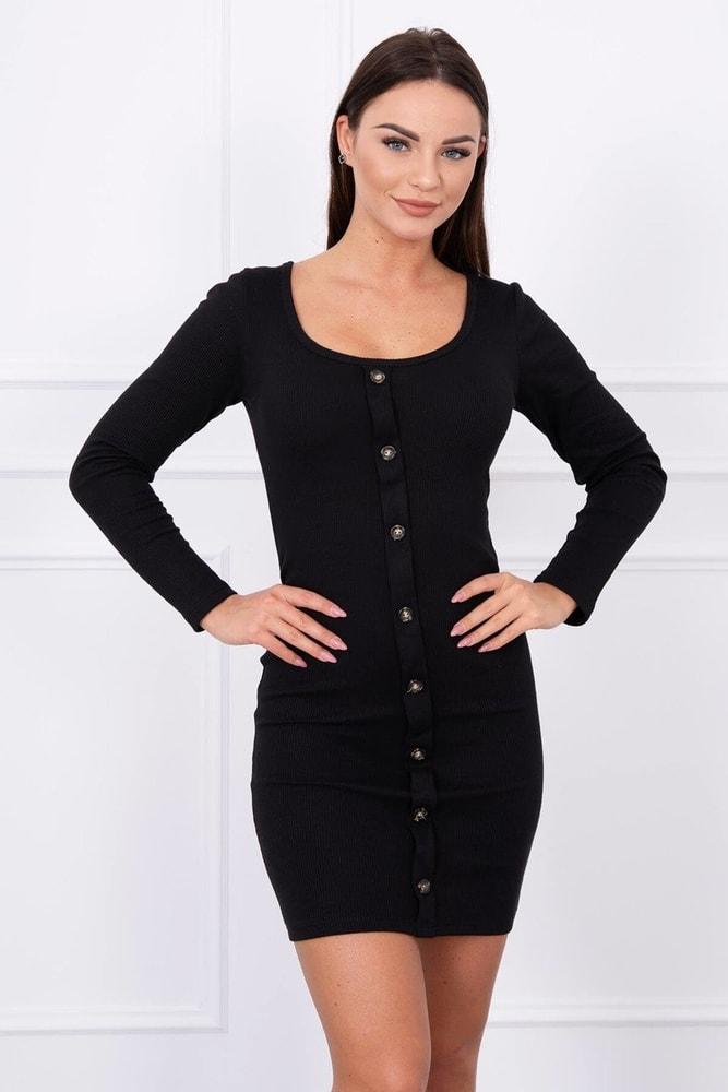 ab0dfd98a0a7 Home ›  Dámske šaty ›  Úpletové šaty ›  Čierne elastické minišaty