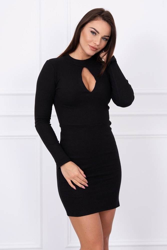 0bf4606ee112 Čierne elastické minišaty - Kesi - Párty šaty - vasa-moda.sk