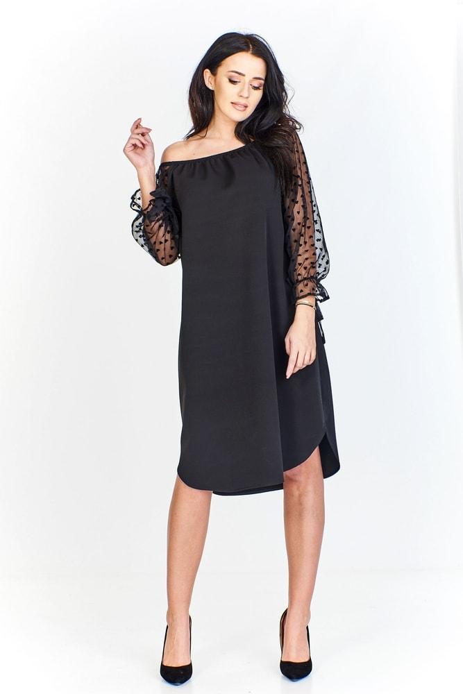 76d2af03c3f7 Elegantné čierne šaty - Ptakmoda - Večerné šaty a koktejlové šaty ...