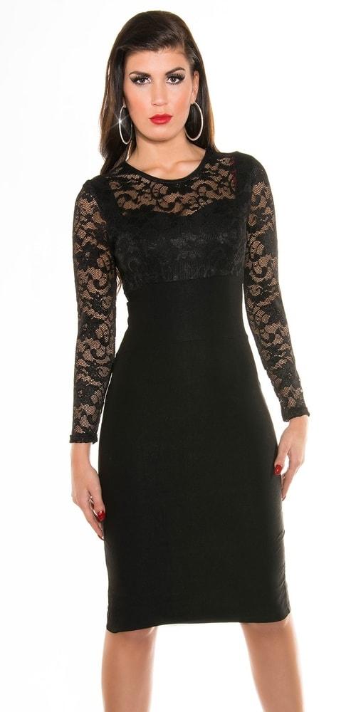2925fc3d68f2 Čierne puzdrové šaty - Koucla - Večerné šaty a koktejlové šaty ...