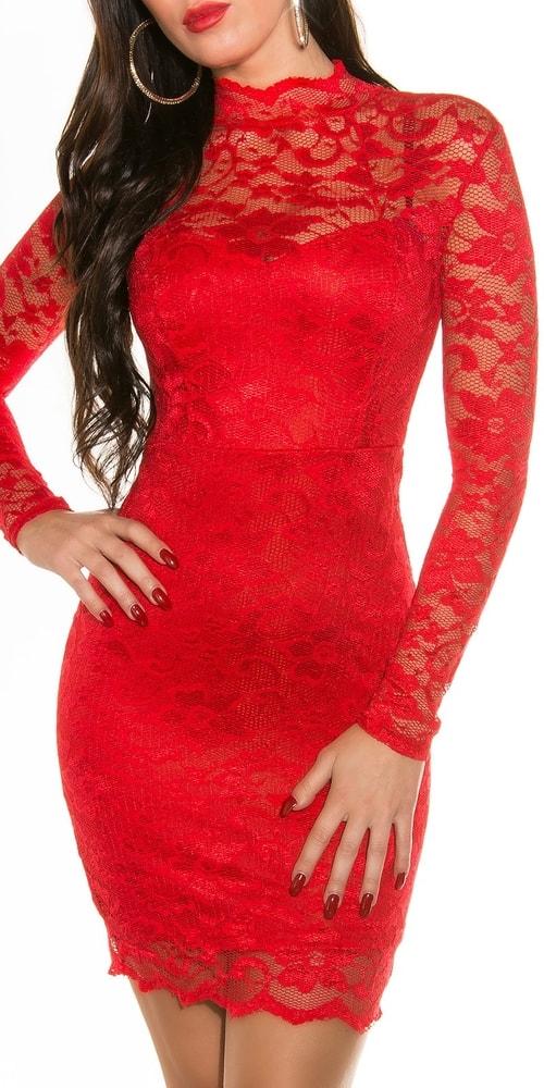 e10d464fe761 Červené čipkované šaty - Koucla - Večerné šaty a koktejlové šaty ...