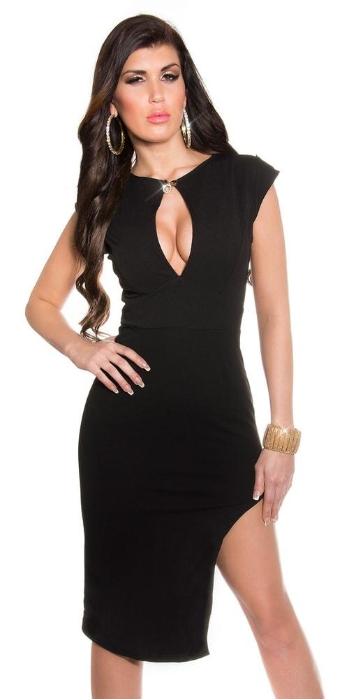 5c56fb61e Čierne elegantné šaty - Koucla - Večerné šaty a koktejlové šaty - vasa ...