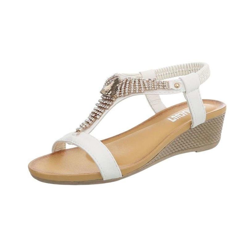 7786ac3d0220 Bílé sandálky na klínku - EU - Letní sandály - i-moda.cz