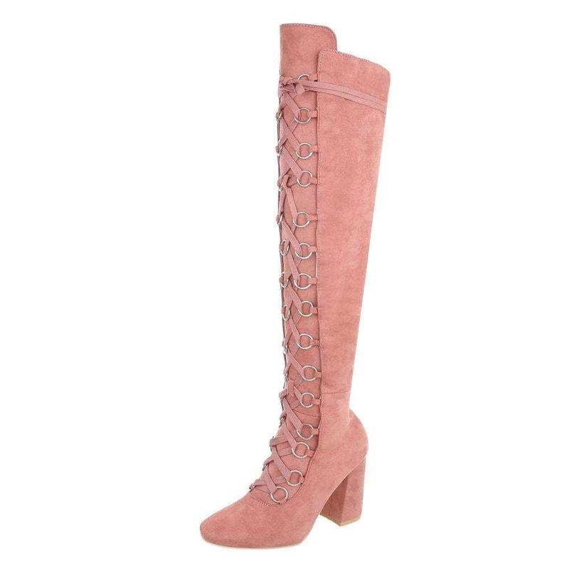 e5109fc16294 Růžové kozačky nad kolena - EU - Kozačky nad kolena - vasa-moda.sk