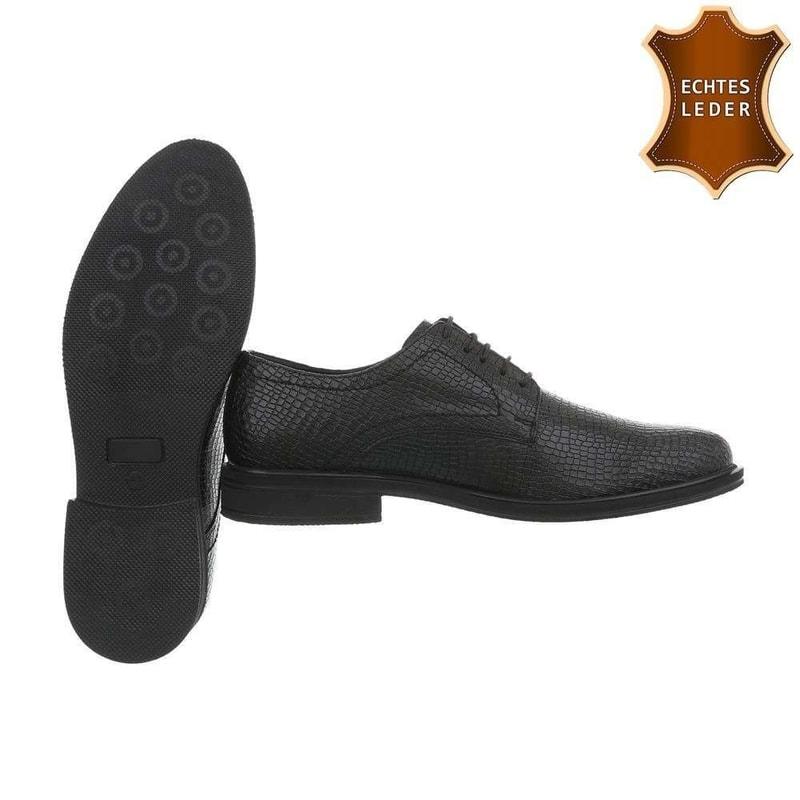 4f0ed9fa47 Čierne pánske spoločenské topánky - Pánské polobotky - vasa-moda.sk