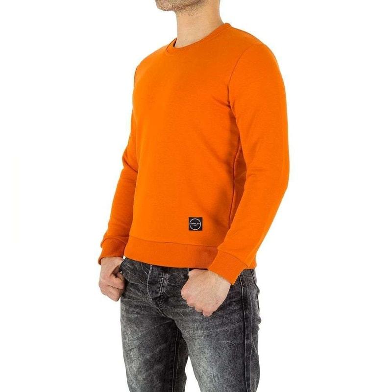 133065e7146e Oranžový pánsky sveter - EU - Pánské svetry - vasa-moda.sk