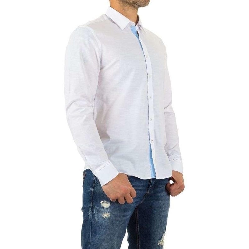 91b16f1da064 Biela pánska košeľa - EU - Pánské košile - vasa-moda.sk