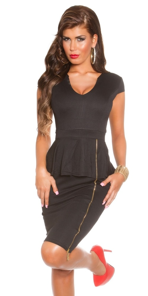 5984ab614 Čierne spoločenské šaty - Koucla - Večerné šaty a koktejlové šaty ...