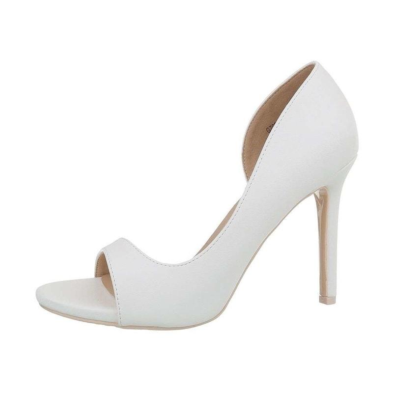 a2d3c777b3 Biele sandálky na vysokom podpätku - EU - Společenské sandály ...