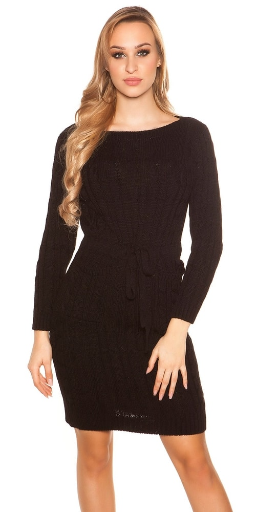 1d18b9d94885 Čierne pletené šaty - Koucla - Úpletové šaty - vasa-moda.sk