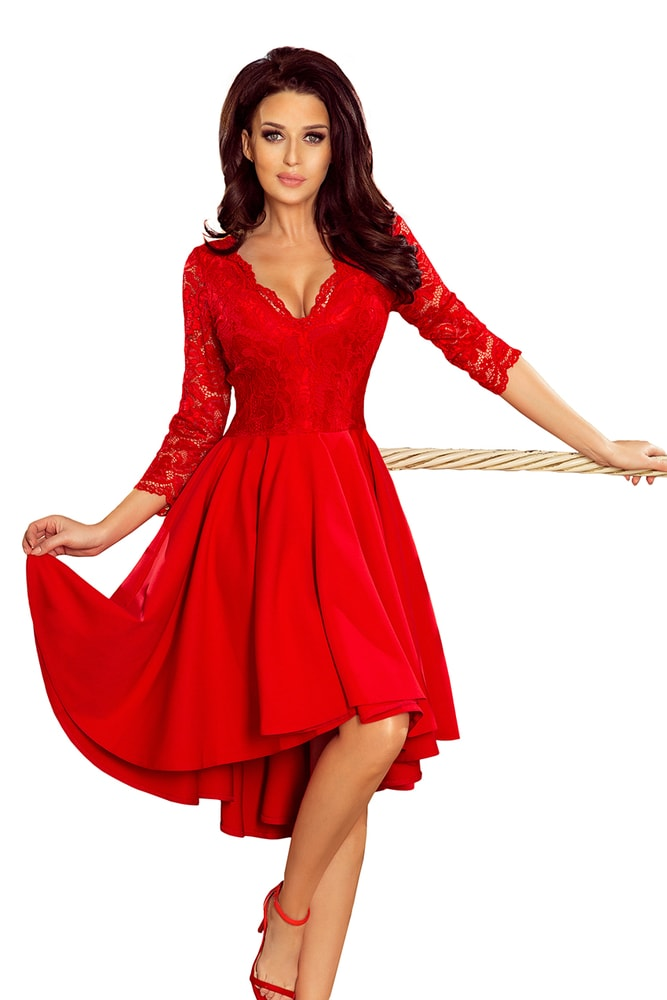 cb24f4a562e9 Červené krajkové šaty - Numoco - Večerné šaty a koktejlové šaty ...