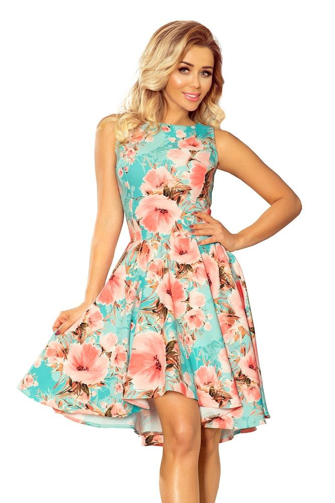 f5ad1b27a489 Dámske kvetinové šaty - Numoco - Krátke letné šaty - vasa-moda.sk