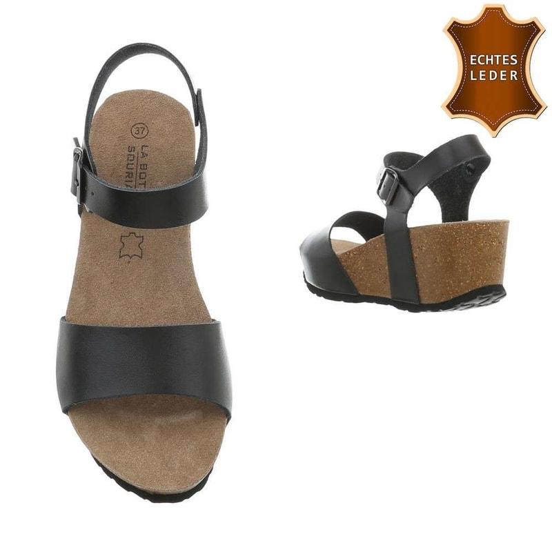 1300b65f996db Kožené sandály na platformě - EU - Letní sandály - i-moda.cz