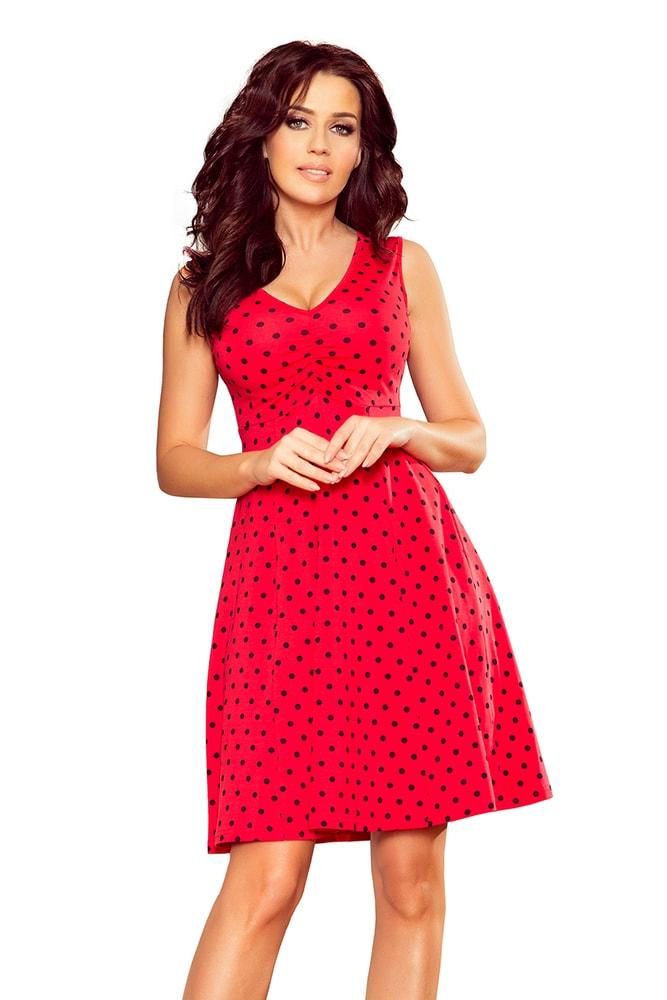 ebaba2fd3 Červené dámské šaty - Numoco - Krátke letné šaty - vasa-moda.sk