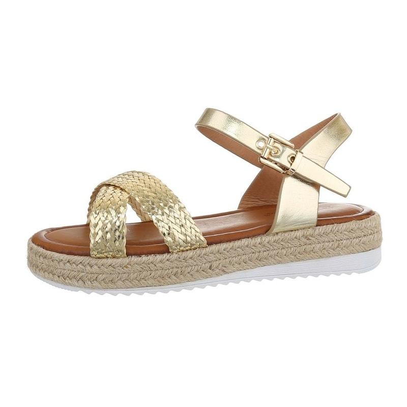7f3d9d88e0787 Dámske zlaté sandále - EU - Letní sandály - vasa-moda.sk