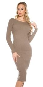 6edc5692f138 Dlouhé dámské úpletové šaty