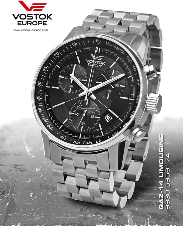Vostok Europe GAZ-14 Grand Chrono Trigolight 6S30-5651174B