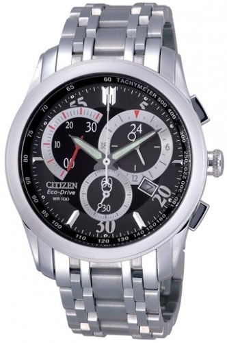 Citizen Men's Eco-Drive Silver Stainless-Steel AT1007-51E