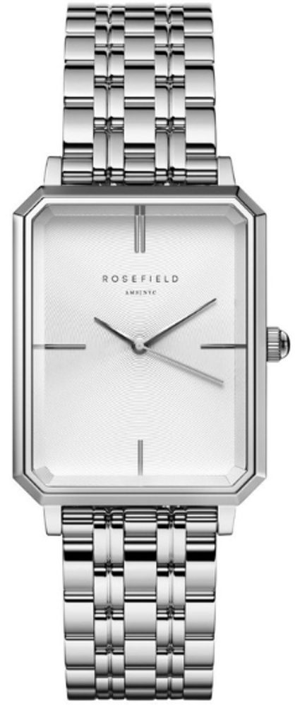 Rosefield The Octagon White Sunray  Steel Silver OCWSS-O41