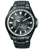 Hodinky Citizen Men's Eco-Drive Black Stainless-Steel CB0014-52E