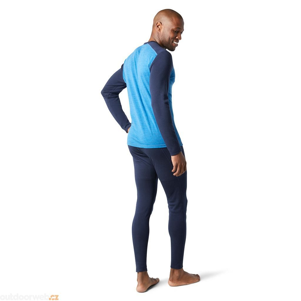 M MERINO 250 BASELAYER CREW, neptune blue heather-deep navy