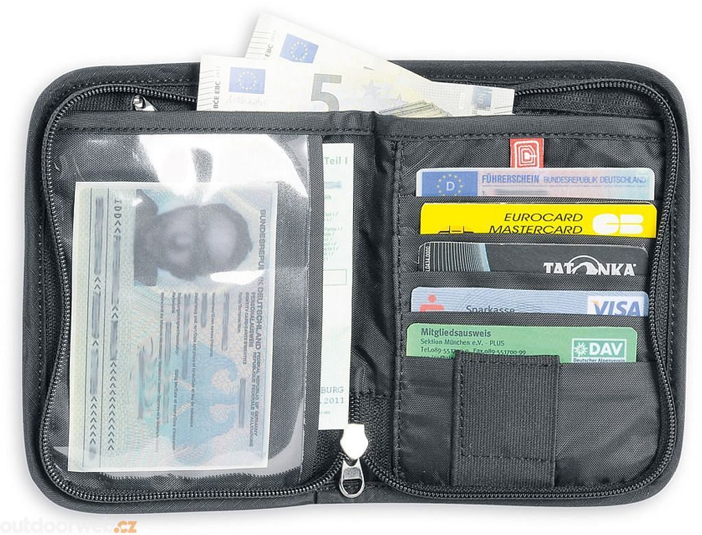 Travel Zip M RFID B, black - peněženka