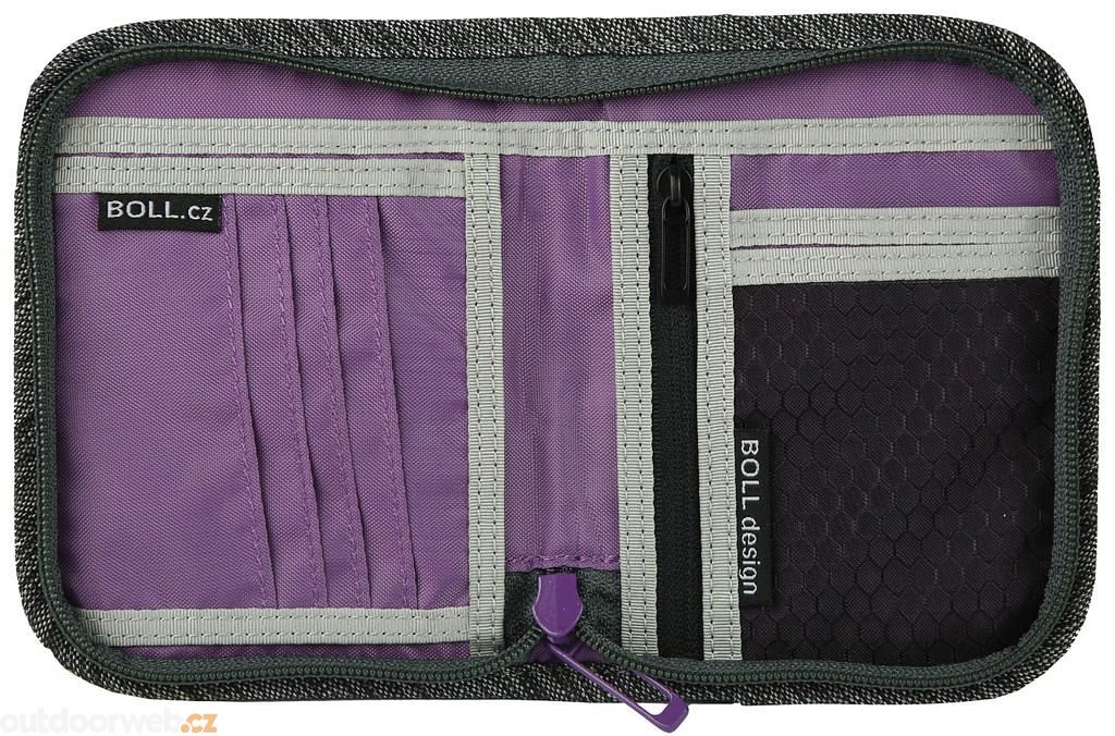 Zip Wallet SALT & PEPPER/LILAC