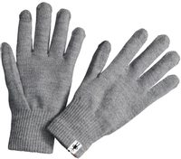 LINER GLOVE, silver gray heather