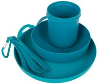 Delta Camp Set (Bowl, Plate, Mug, Cutlery) Pacific blue