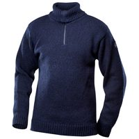 Nansen sweater zip neck dark blue melange