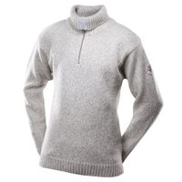 Nansen sweater zip neck, grey melange