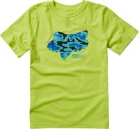 Youth Stenciled Ss Tee, yellow