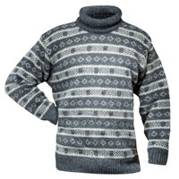 Alnes sweater w/roll neck, anthracite/grey melange