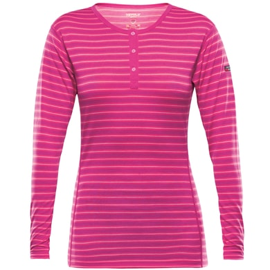 Breeze Woman Button Shirt, fuchsia stripes