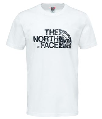 M S/S WOOD DOME TEE TNF WHT/TNF BLK