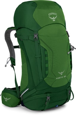 Kestrel 58 jungle green - turistický batoh