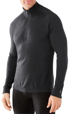 M MERINO 250 BASELAYER 1/4 ZIP charcoal