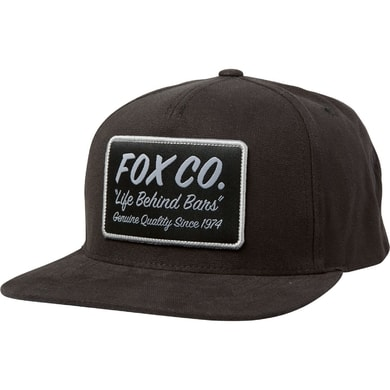 Resin Snapback Hat, black