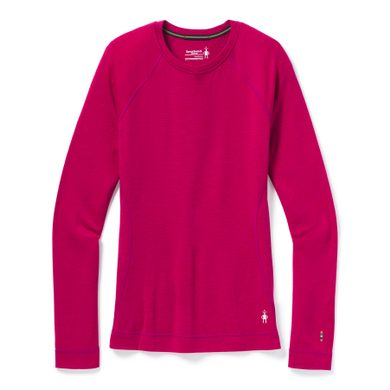 W MERINO 250 BASELAYER CREW, very berry heather
