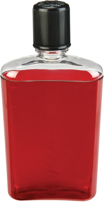 Flask 350 ml Red with black cap
