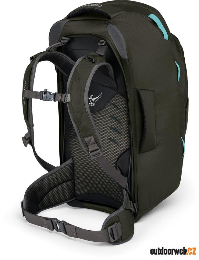 3d35726b75 Fairview 70 misty grey - OSPREY - cestovní tašky - batohy - 4 139 Kč