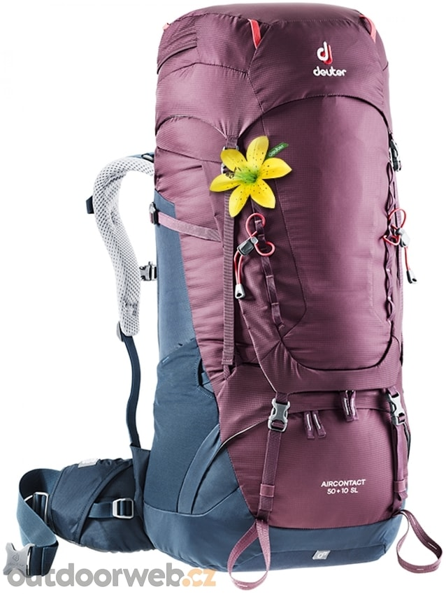 1fc4175bee Aircontact 50 + 10 SL blackberry-navy - DEUTER - turistické batohy ...