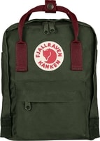 Kanken Mini forest green-oxford red 7l - batoh