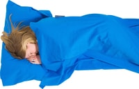 Cotton Sleeping Bag Liner blue mummy
