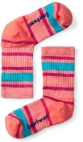 K Striped Hike Light Crew, bright coral