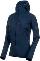 Aconcagua Light ML Hooded Jacket Women peacoat melange